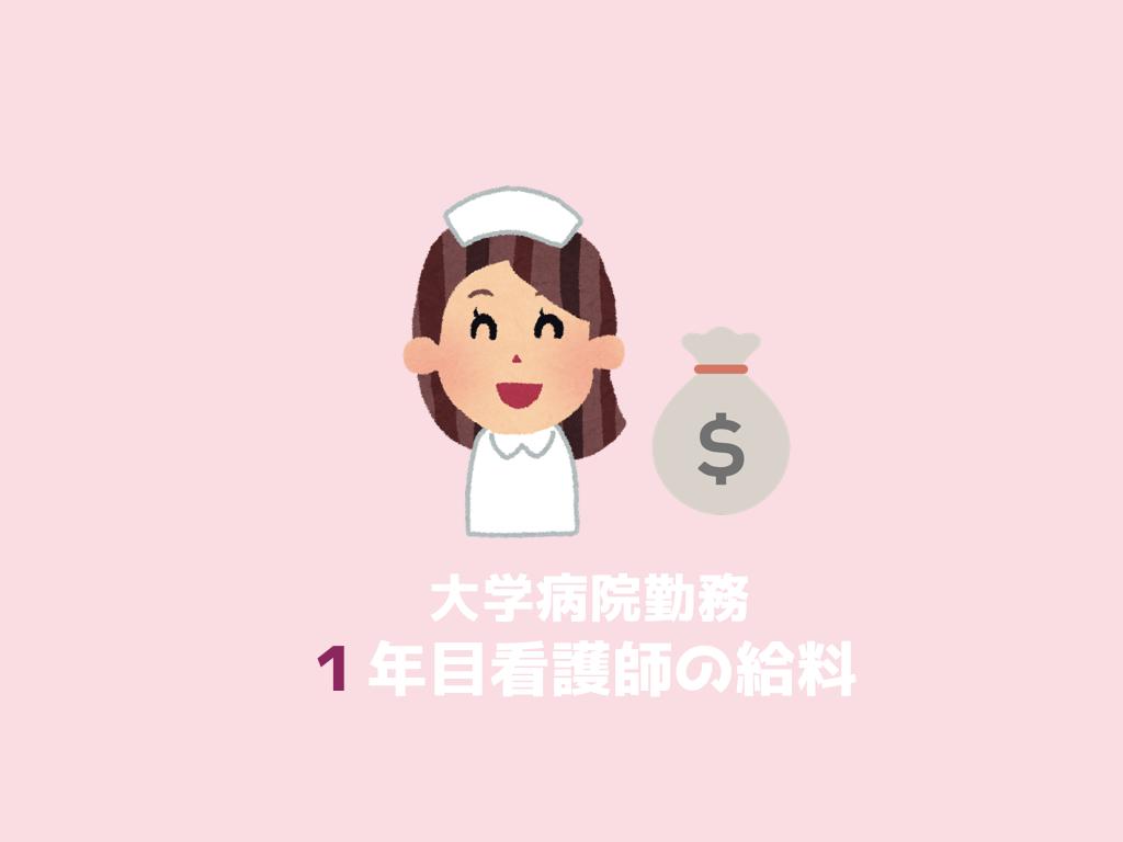 大学病院,看護師,給料,手取り